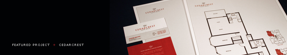 Featured Project - Cedarcrest Real Estate Project Identity, Logo Design, Brochure Design, Vancouver, BC