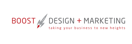 BOOST Design + Social Media Marketing - Logo - Vancouver, BC