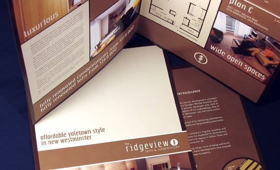 Ridgeview Real Estate Project Marketing Design - Rennie Marketing Systems